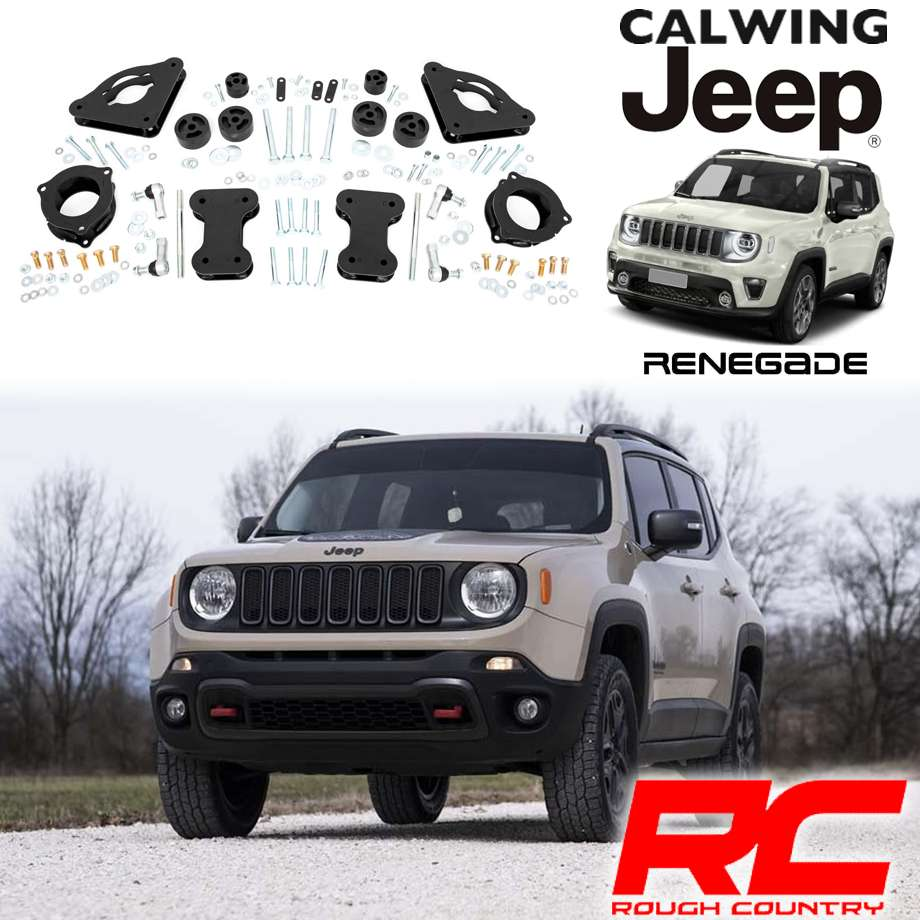 JEEP/ジープ RENEGADE/レネゲード 2WD/4WD '15y-'18y | リフトアップキット 2インチ フロント/リア ROUGH COUNTRY/ラフカントリー【アメ車パーツ】