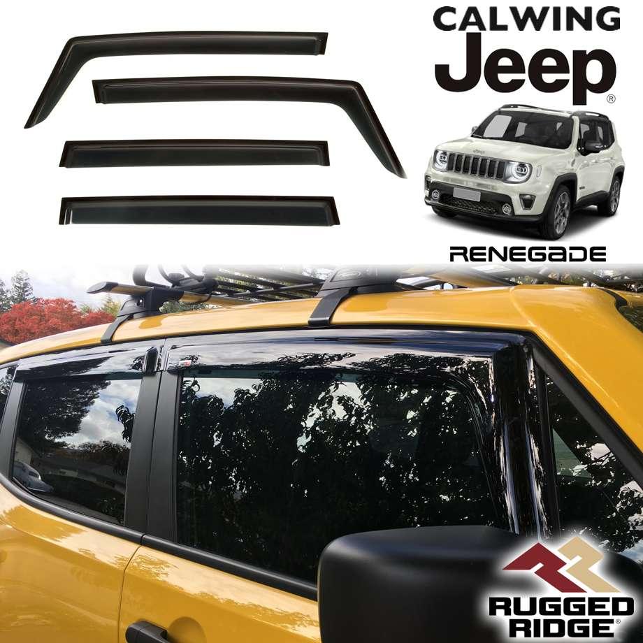 JEEP/ジープ RENEGADE/レネゲード '15y- | ドアバイザー 4PCS RUGGED RIDGE/ラギッドリッジ【アメ車パーツ】