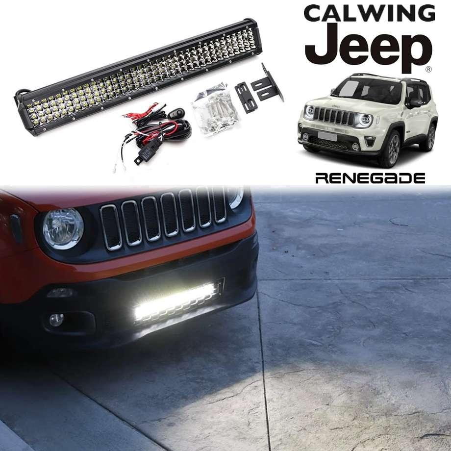 JEEP/ジープ RENEGADE/レネゲード '15y- | LEDライトバーキット 100W ロアグリルマウント マウントブラケット/スイッチ付属【アメ車パーツ】