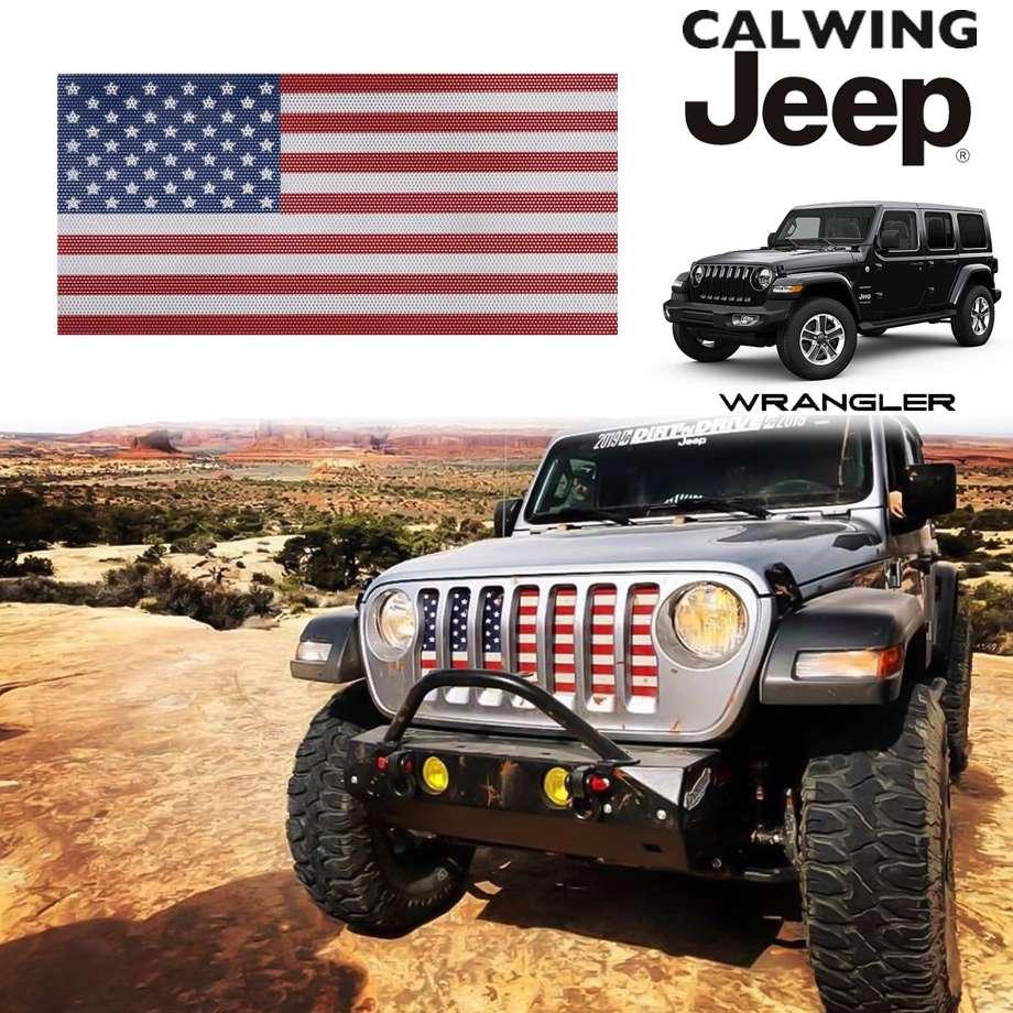 JEEP/ジープ WRANGLER/ラングラー JL '18y- | アンダーザサンインサート グリルインサート オールドグローリー アメリカンフラッグ 星条旗 OLD GLORY【アメ車パーツ】