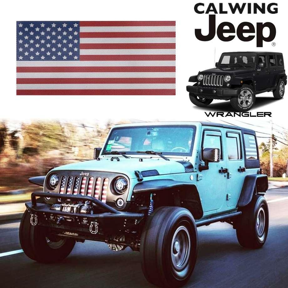 JEEP/ジープ WRANGLER/ラングラー JK '07y-'18y | アンダーザサンインサート グリルインサート オールドグローリー アメリカンフラッグ 星条旗 OLD GLORY【アメ車パーツ】