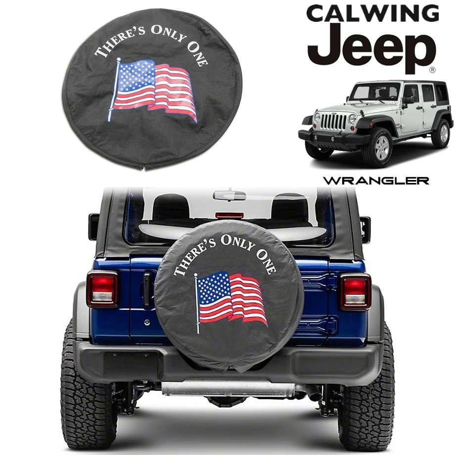 JEEP/ジープ WRANGLER/ラングラー JK '07y-'18y | There's Only One アメリカンフラッグ 背面タイヤカバー ソフトタイヤカバー 255/75R17 255/70R18サイズ【アメ車パーツ】