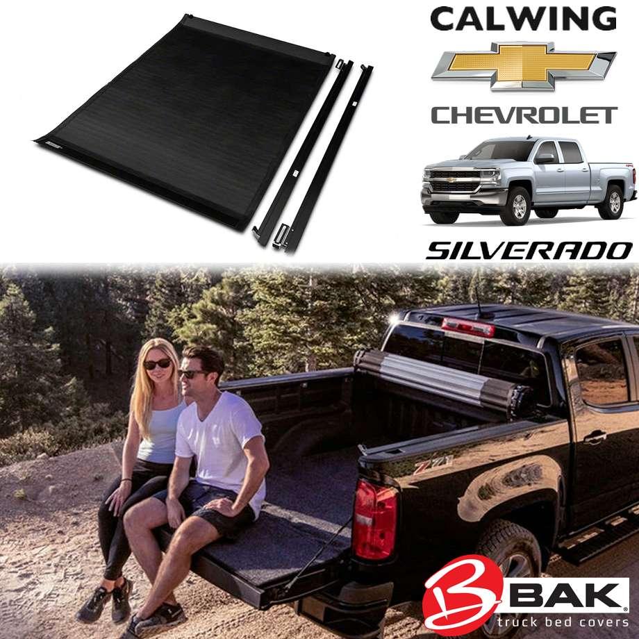 CHEVROLET/シボレー SILVERADO/シルバラード '14y-'18y | リボルバー X2 トノカバー 5.8フィート アルミ ロールタイプ ブラック BAK INDUSTRIES【アメ車パーツ】