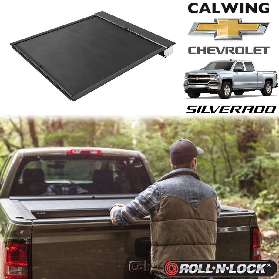 CHEVROLET/シボレー SILVERADO/シルバラード '14y-'18y | トノカバー 5.8フィート リトラクタブル 引き込み式 ブラック ROLL-N-LOCK/ロールンロック【アメ車パーツ】