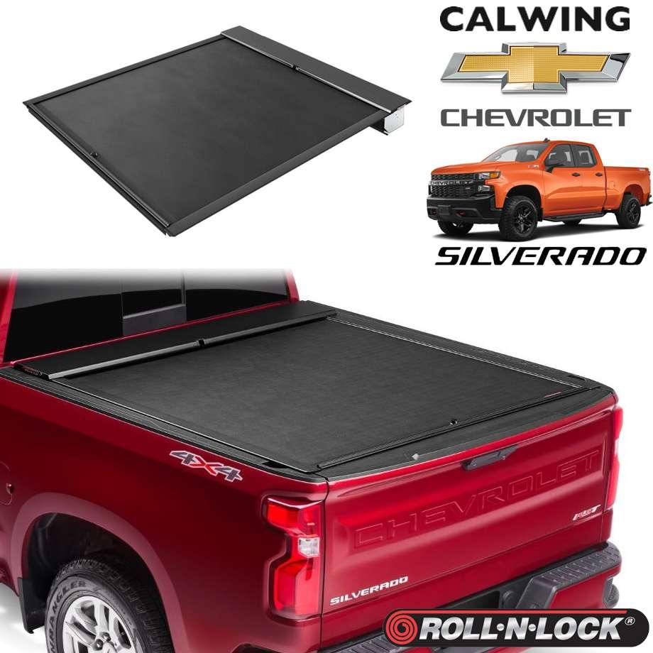 CHEVROLET/シボレー SILVERADO/シルバラード '19y- | トノカバー 5.8フィート リトラクタブル 引き込み式 ブラック ROLL-N-LOCK/ロールンロック【アメ車パーツ】
