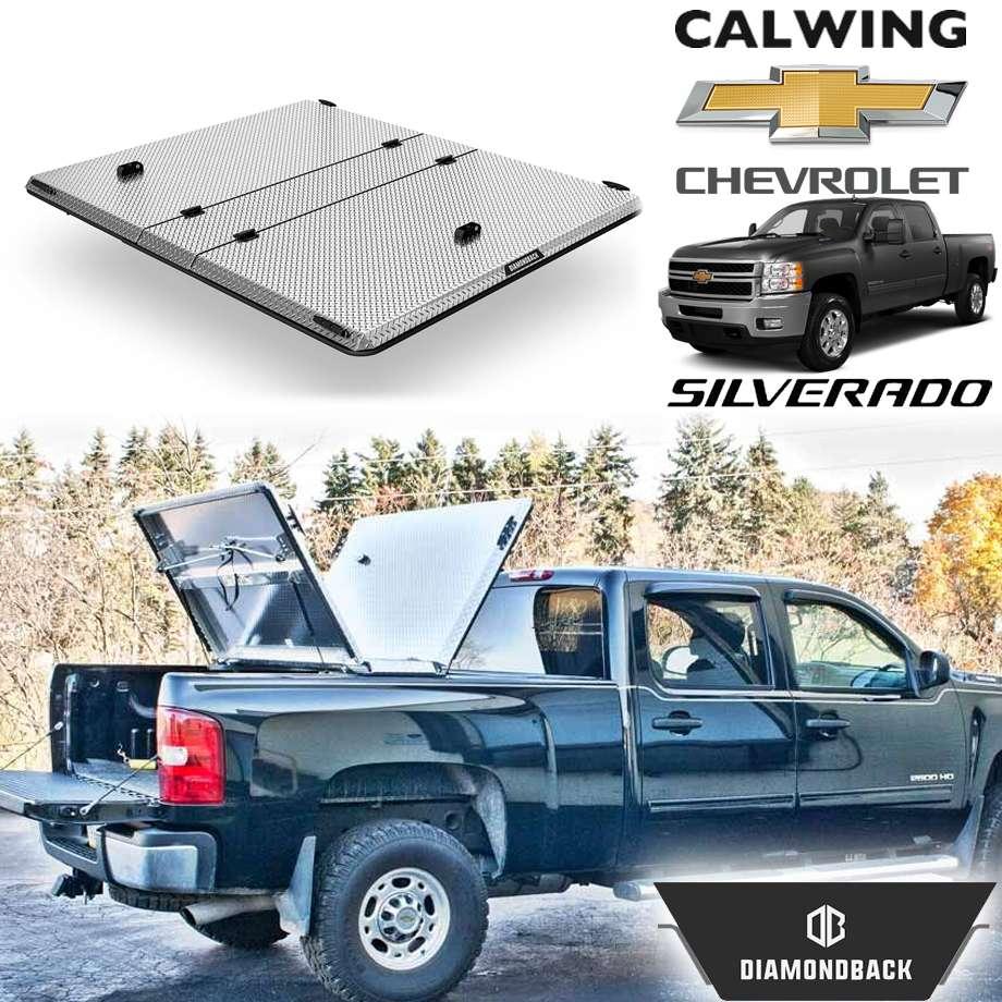 CHEVROLET/シボレー SILVERADO/シルバラード '07y-'13y | ダイアモンドバックSE ブライトアルミニウム トノカバー/ベッドカバー 5.8フィート ハード DIAMONDBACK【アメ車パーツ】