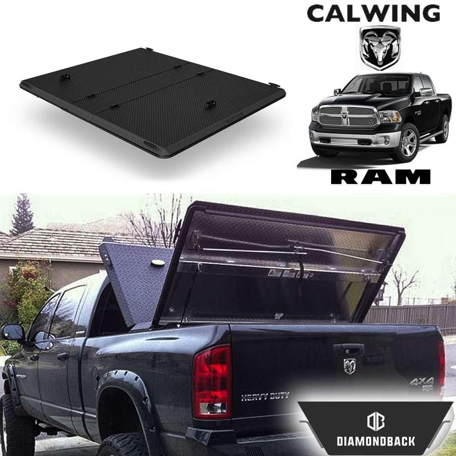 RAM TRUCKS/ラムトラックス ラムピックアップ ラムボックス無し車 '09y-'18y | ダイアモンドバックSE ブラックスプレーフィニッシュ トノカバー/ベッドカバー 5.7フィート ハード DIAMONDBACK【アメ車パーツ】