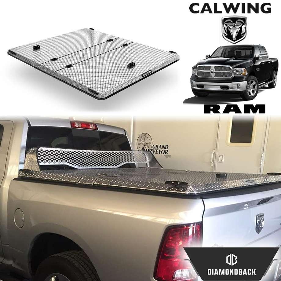 RAM TRUCKS/ラムトラックス ラムピックアップ ラムボックス無し車 '09y-'18y | ダイアモンドバックSE ブライトアルミニウム トノカバー/ベッドカバー 5.7フィート ハード DIAMONDBACK【アメ車パーツ】