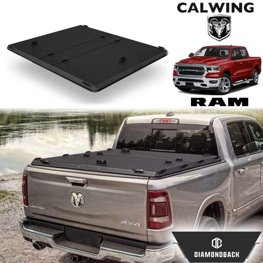 RAM TRUCKS/ラムトラックス ラムピックアップ ラムボックス無し車 '19y- | ダイアモンドバックSE ブラックスプレーフィニッシュ トノカバー/ベッドカバー 5.7フィート ハード DIAMONDBACK【アメ車パーツ】