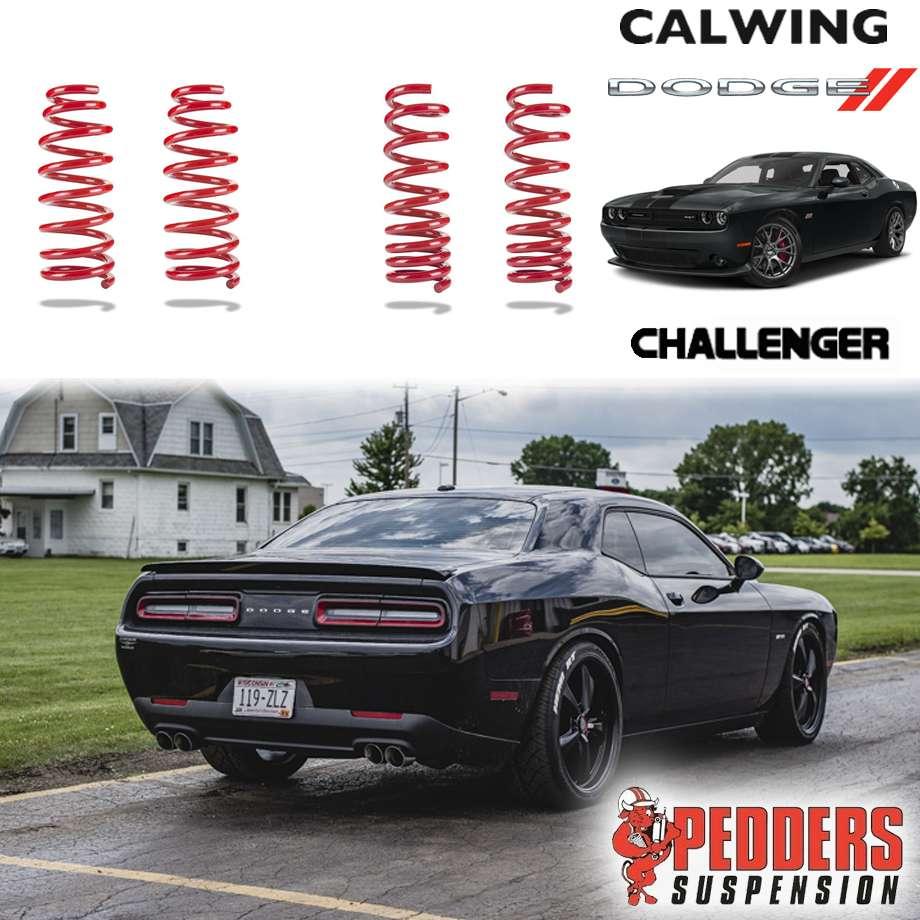 DODGE/ダッジ CHALLENGER/チャレンジャー セルフレベリング車 '08y-'12y | ロワリングコイル コイルスプリング F1.5/R1.1インチダウン スポーツライダー PEDDERS【アメ車パーツ】