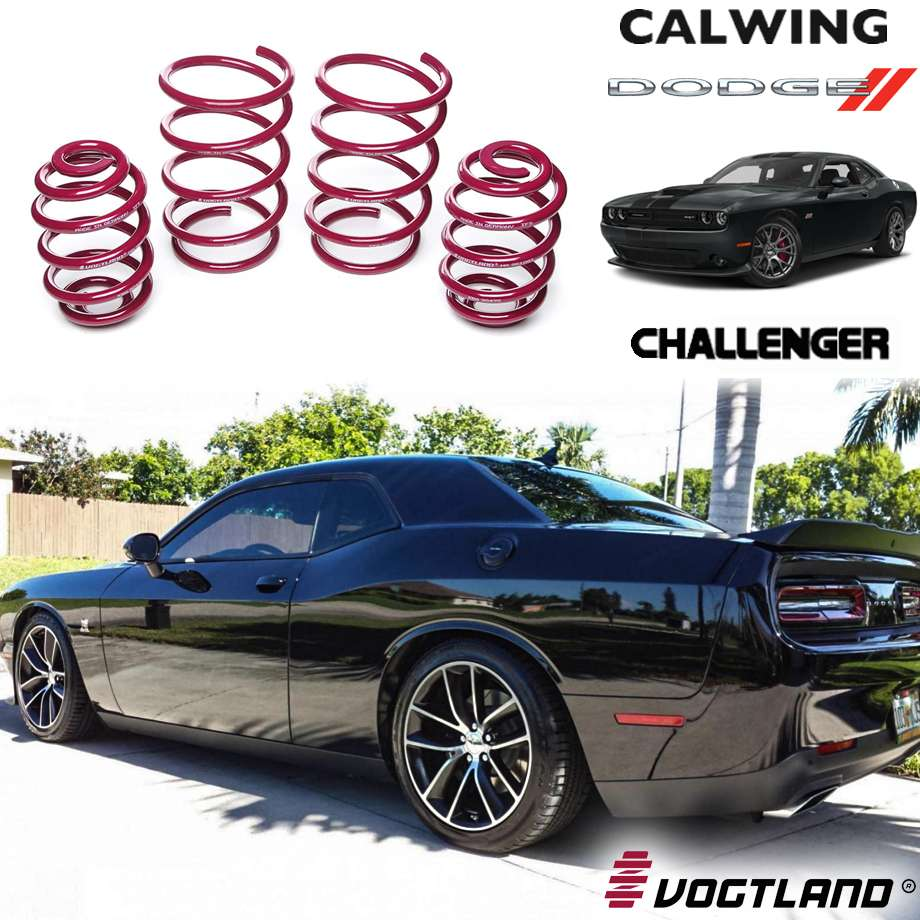 DODGE/ダッジ CHALLENGER/チャレンジャー SRT ヘルキャット 392 R/T スキャットパック '15y- | ロワリングコイル コイルスプリング F1/R1インチダウン VOGTLAND【アメ車パーツ】