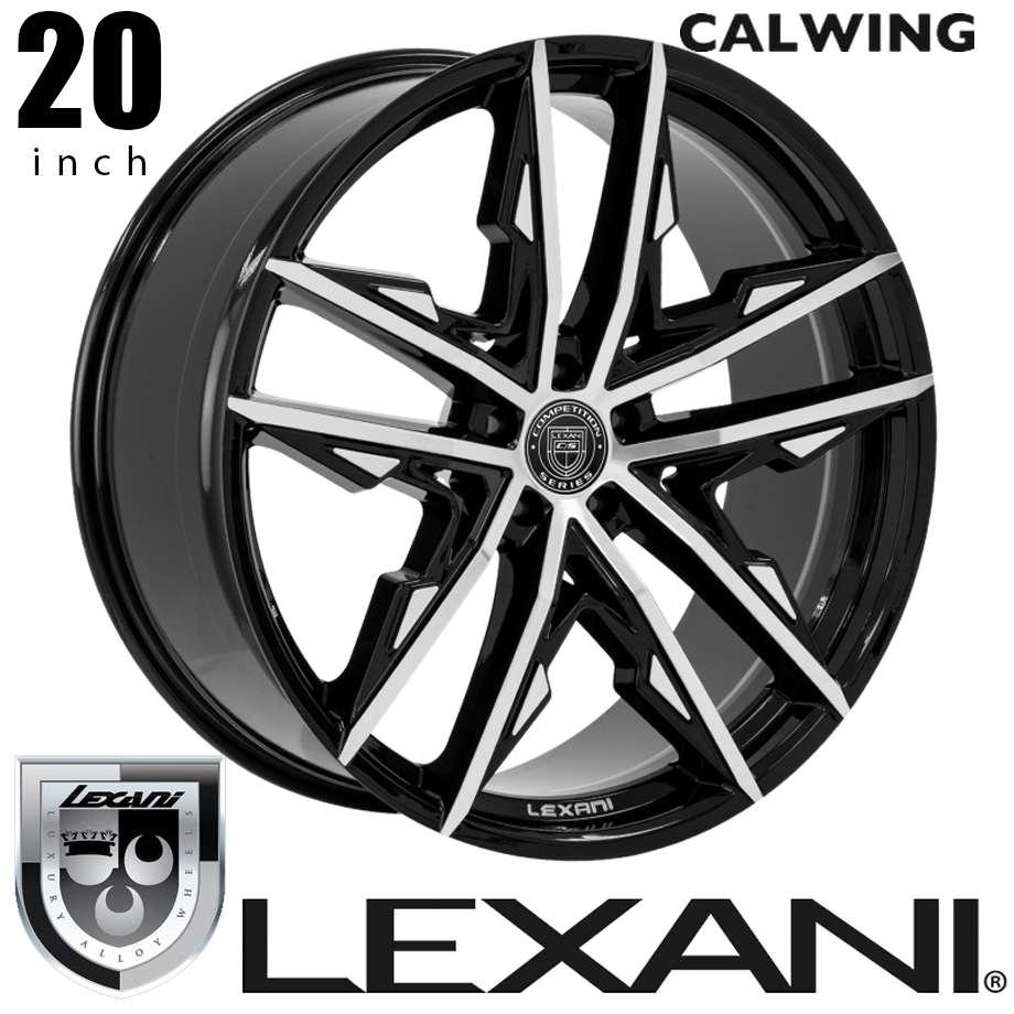 欧州車 アメ車 国産車 ホイール レクサーニ/LEXANI VENOM ブラックマシン 20インチ タイヤホイール4本セット キャデラック ベンツ BMW アウディ レクサス ニッサン ダッジ クライスラー 等
