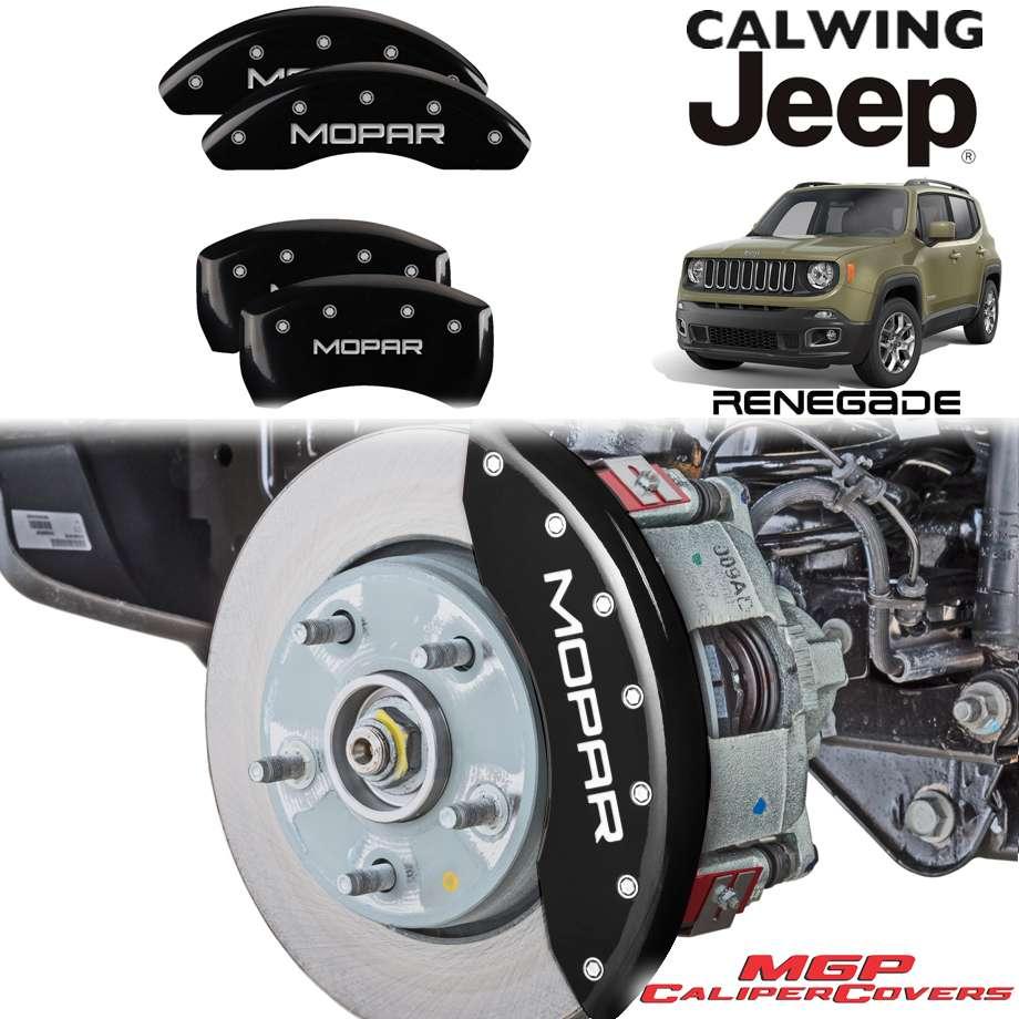 JEEP/ジープ RENEGADE/レネゲード '15y-'17y   ブレーキキャリパーカバー MOPARロゴ ブラック 4PC MGP【アメ車パーツ】