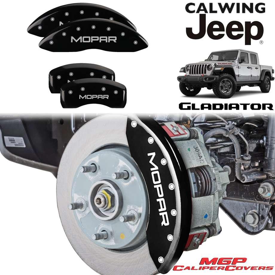 JEEP/ジープ GLADIATOR/グラディエーター JT '20y- | ブレーキキャリパーカバー MOPARロゴ ブラック 4PC MGP【アメ車パーツ】
