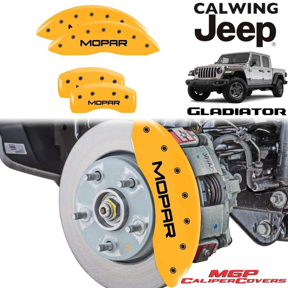 JEEP/ジープ GLADIATOR/グラディエーター JT '20y- | ブレーキキャリパーカバー MOPARロゴ イエロー 4PC MGP【アメ車パーツ】