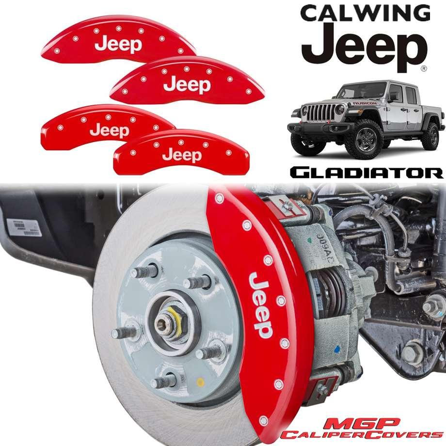 JEEP/ジープ GLADIATOR/グラディエーター JT '20y- | ブレーキキャリパーカバー JEEPロゴ レッド 4PC MGP【アメ車パーツ】