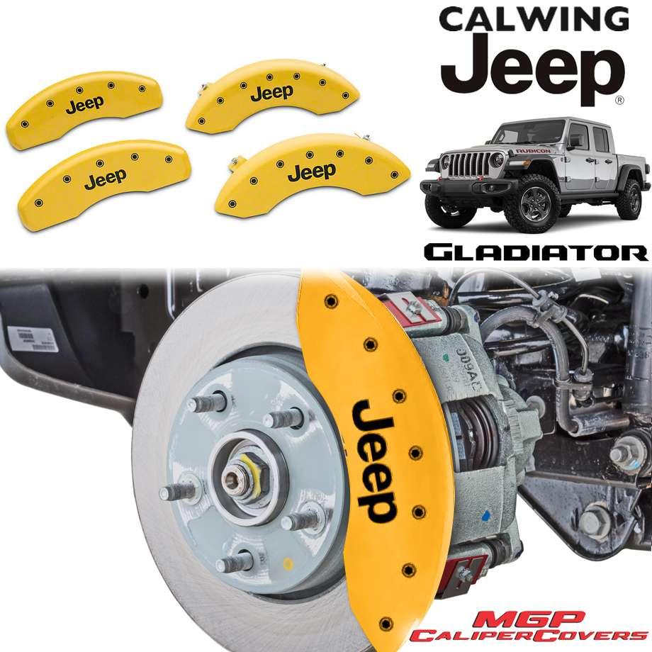 JEEP/ジープ GLADIATOR/グラディエーター JT '20y- | ブレーキキャリパーカバー JEEPロゴ イエロー 4PC MGP【アメ車パーツ】