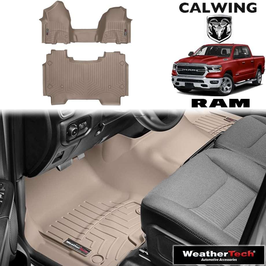 【車種専用設計】RAM TRUCKS/ラムトラックス ラムピックアップ クルーキャブ1stベンチ 2ndフロアストレージ無し車 '19y- | フロアマット フロアライナー タン WeatherTech/ウェザーテック【アメ車パーツ】