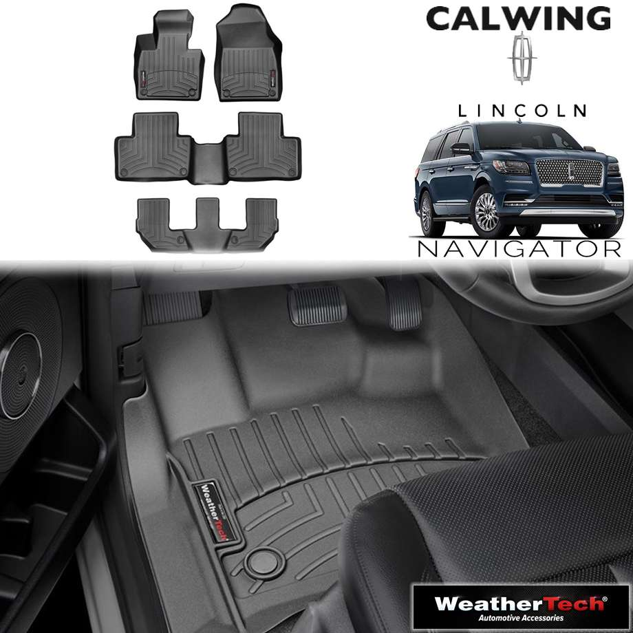 【車種専用設計】LINCOLN/リンカーン NAVIGATOR/ナビゲーター 2ndベンチ '18y- | フロアマット フロアライナー ブラック WeatherTech/ウェザーテック【アメ車パーツ】
