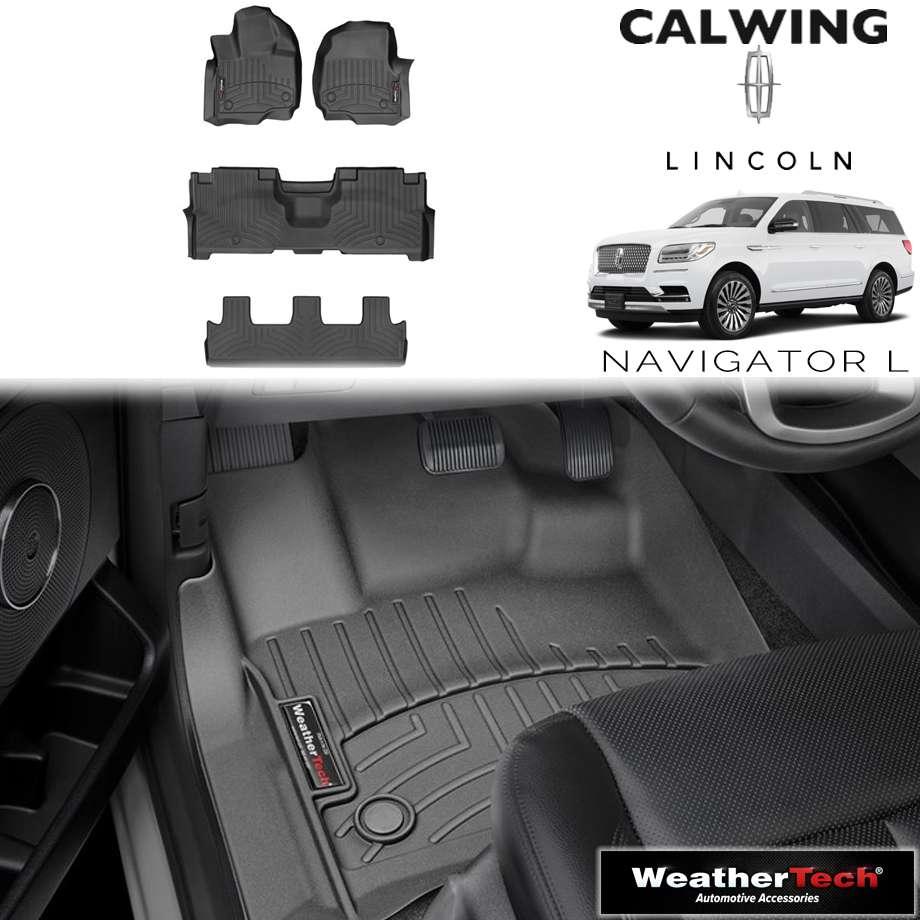 【車種専用設計】LINCOLN/リンカーン NAVIGATOR/ナビゲーター ロング 2ndベンチ '18y- | フロアマット フロアライナー ブラック WeatherTech/ウェザーテック【アメ車パーツ】