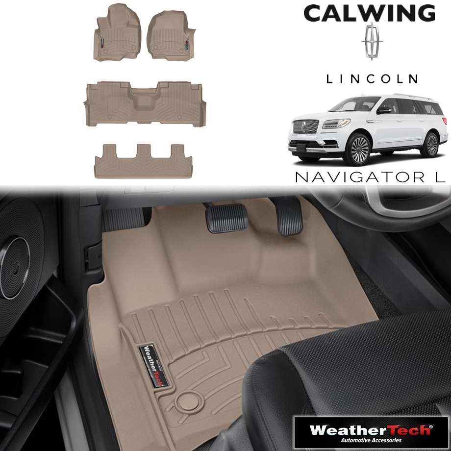 【車種専用設計】LINCOLN/リンカーン NAVIGATOR/ナビゲーター ロング 2ndベンチ '18y- | フロアマット フロアライナー タン WeatherTech/ウェザーテック【アメ車パーツ】
