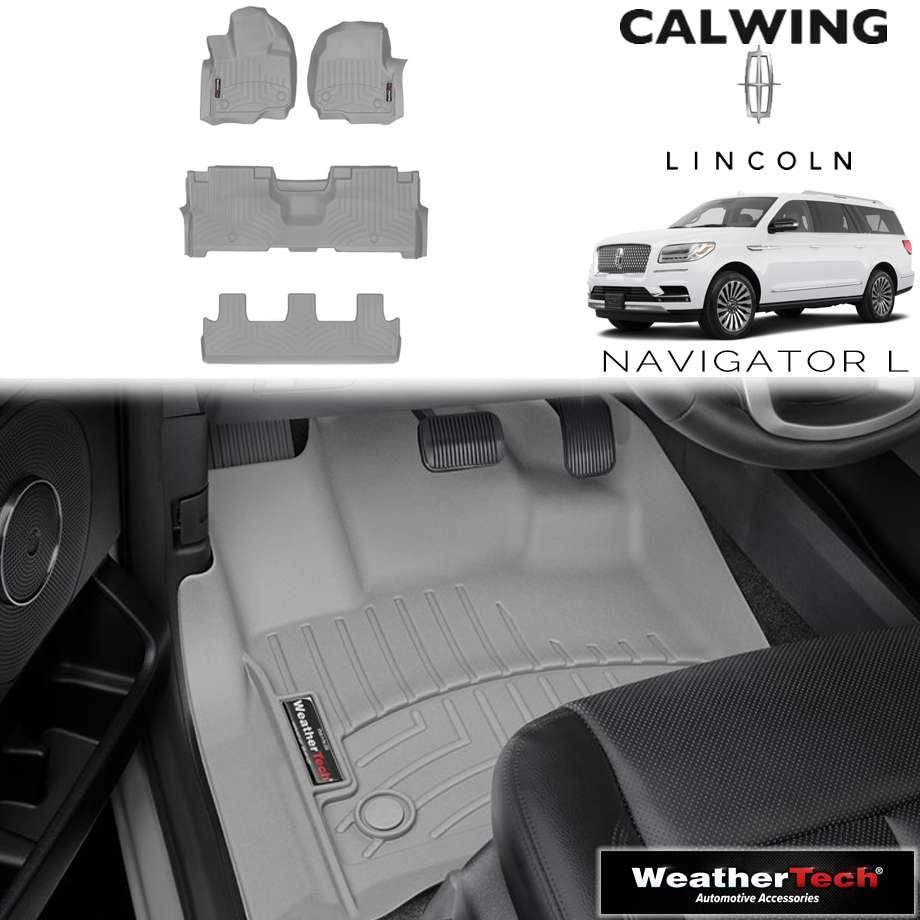 【車種専用設計】LINCOLN/リンカーン NAVIGATOR/ナビゲーター ロング 2ndベンチ '18y- | フロアマット フロアライナー グレー WeatherTech/ウェザーテック【アメ車パーツ】
