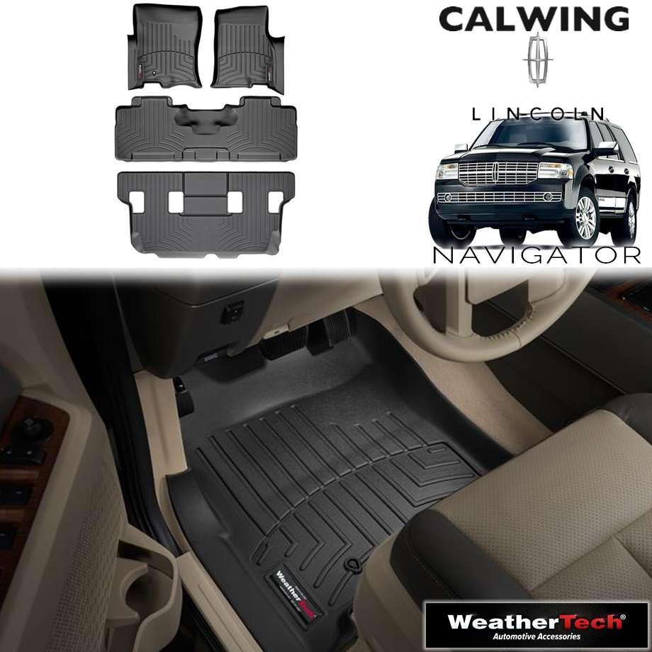 【車種専用設計】LINCOLN/リンカーン NAVIGATOR/ナビゲーター 2ndベンチ '07y-'10y | フロアマット フロアライナー ブラック WeatherTech/ウェザーテック【アメ車パーツ】