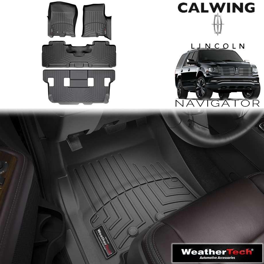 【車種専用設計】LINCOLN/リンカーン NAVIGATOR/ナビゲーター 2ndベンチ '11y-'17y | フロアマット フロアライナー ブラック WeatherTech/ウェザーテック【アメ車パーツ】