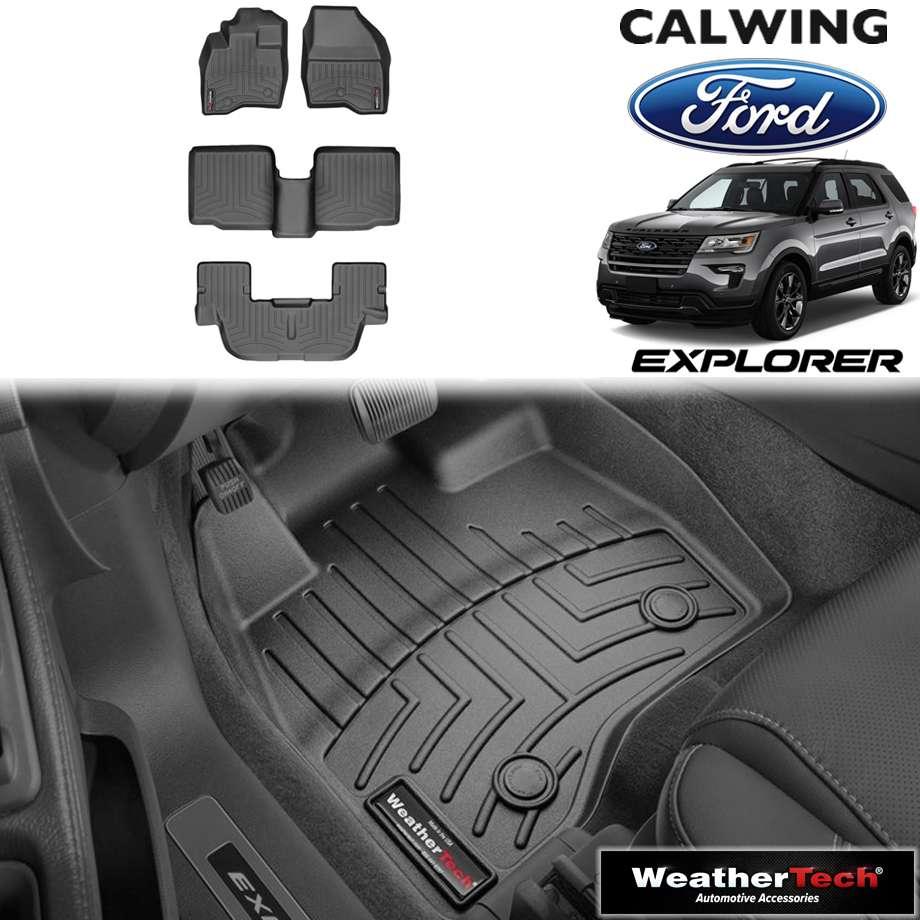 【車種専用設計】FORD/フォード EXPLORER/エクスプローラー 2ndベンチ '17y-'19y | フロアマット フロアライナー ブラック WeatherTech/ウェザーテック【アメ車パーツ】