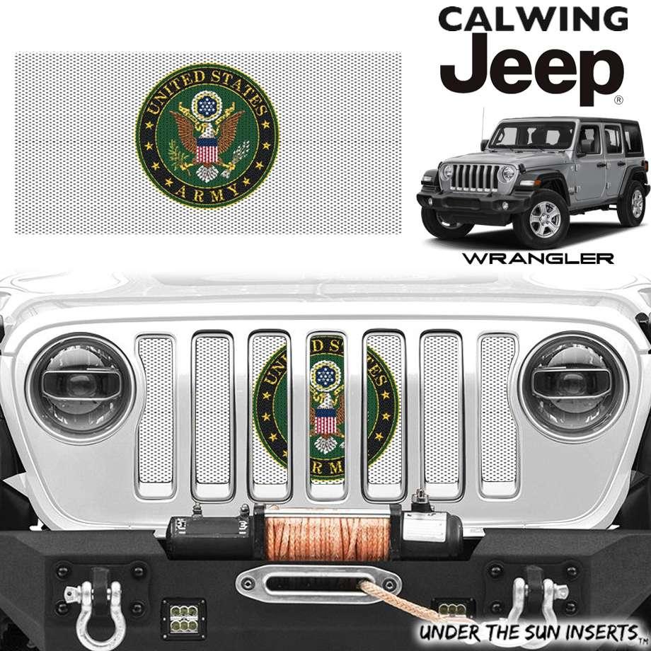 JEEP/ジープ WRANGLER/ラングラー JL '18y- | グリルインサート USアーミー バッジ UNDER THE SUN INSERTS/アンダーザサンインサート【アメ車パーツ】