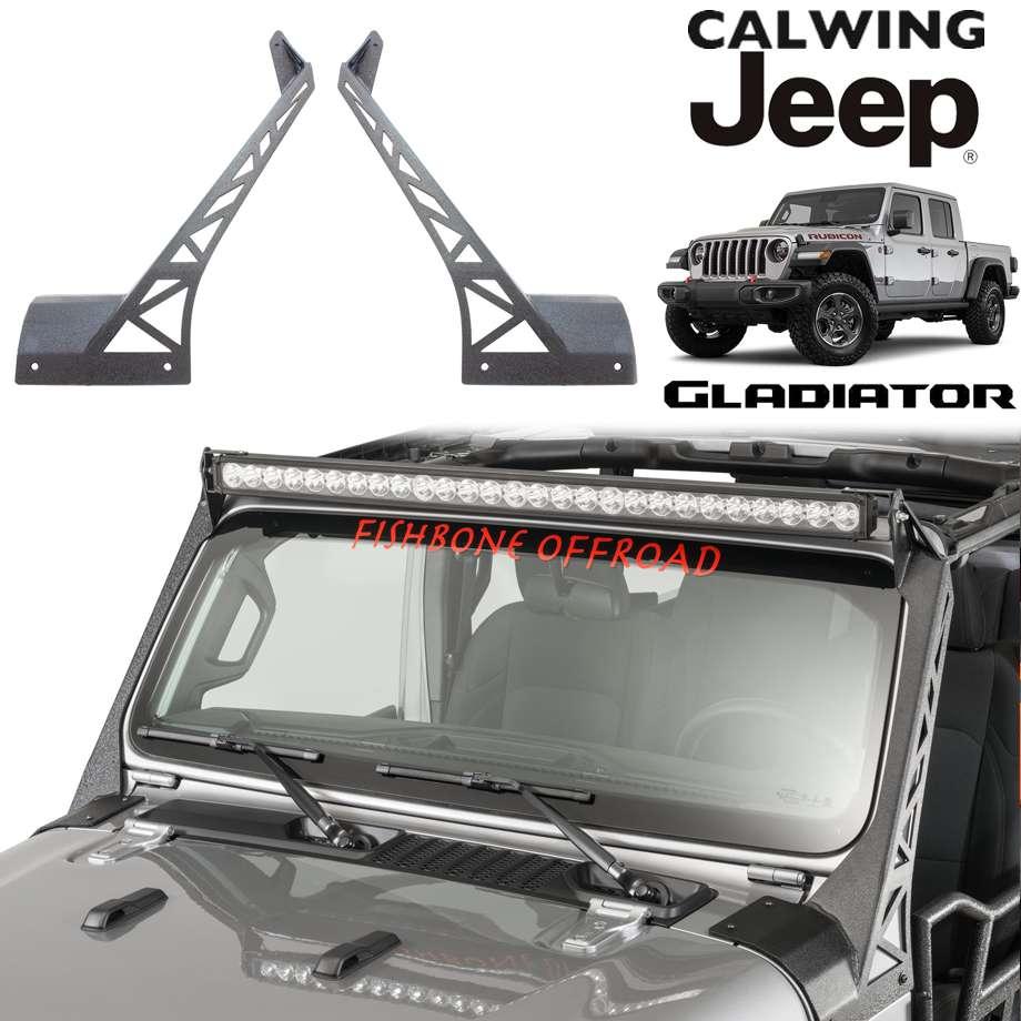 ジープ ラングラー JL 18y- | LEDライトバーブラケット 52インチ ストレートデュアルライトバー用 FISHBONE