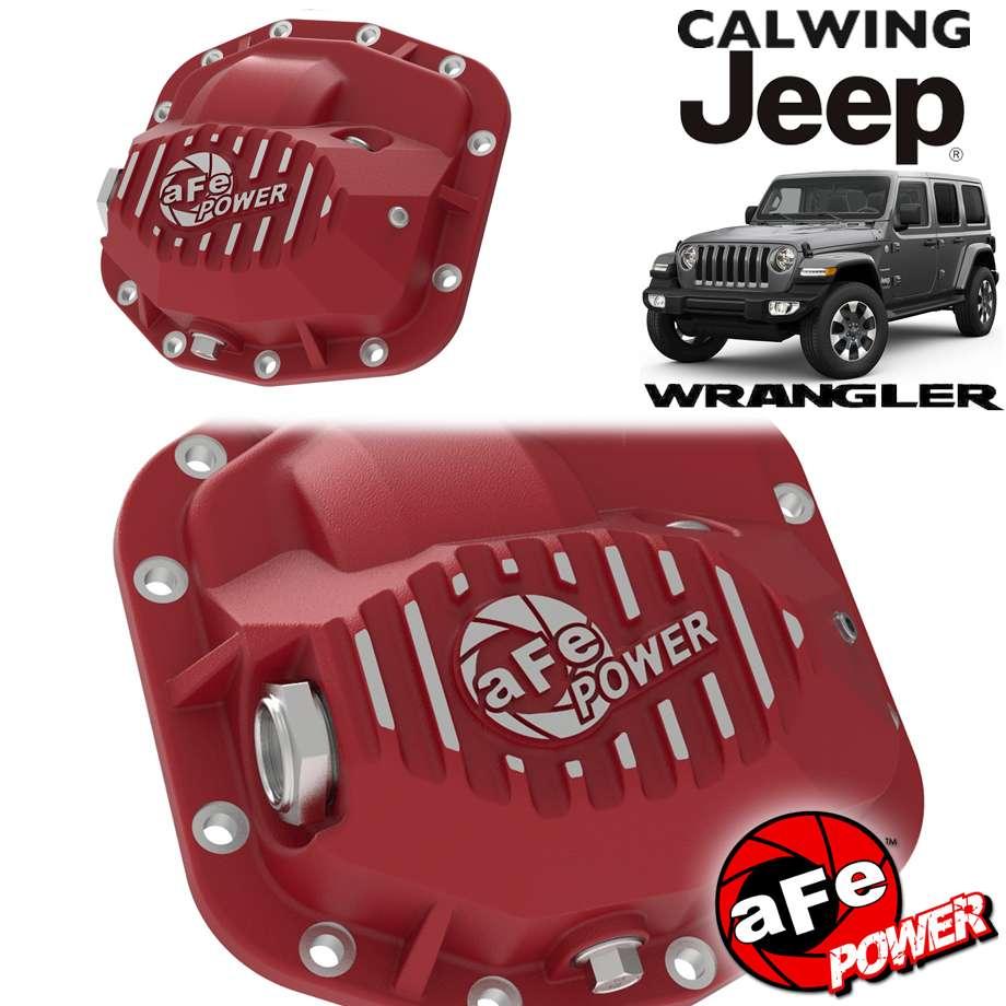 18y- ラングラー JL/20y- グラディエーター | デフカバー フロント プロシリーズ レッド DANA M186用 AFEパワー