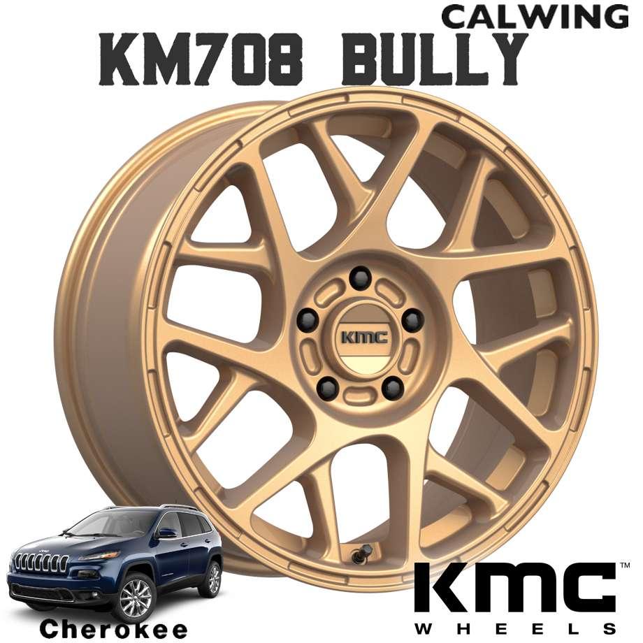 チェロキー | ホイール KM708 BULLY マットブロンズ 17X8.0J+38 5X110 1本 KMC