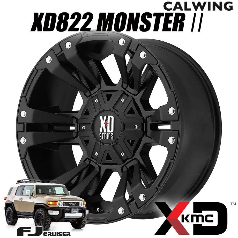 FJクルーザー | ホイール XD822 MONSTER? 18X9+18 6X135/139.7 サテンブラック 1本 KMC