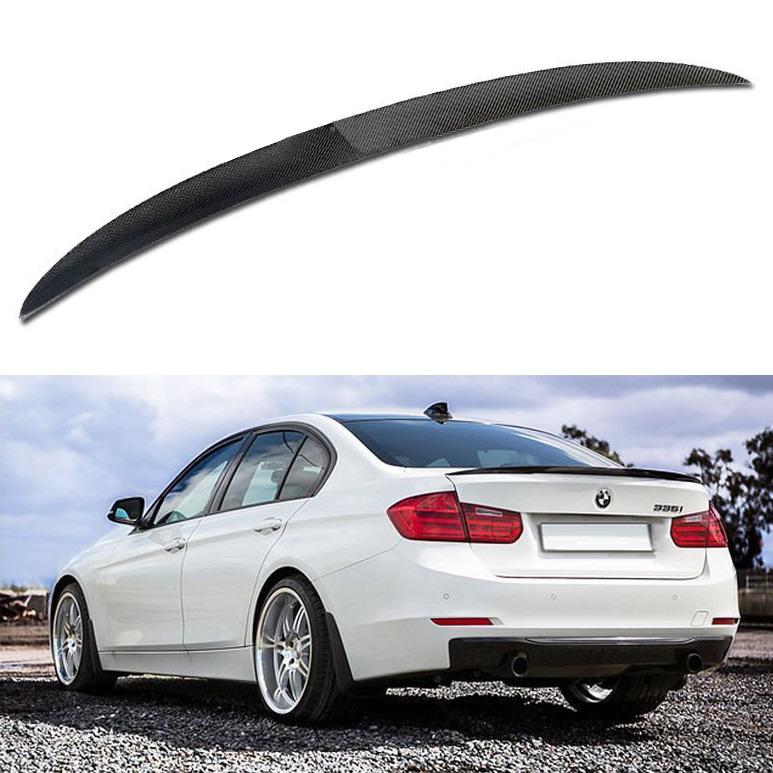 簡単取付け BMW 3シリーズ F30 4ドア セダン '12y~'17y F80 M3 '15y~ パフォーマンススタイルカーボンファイバースポイラー ブラックカーボン