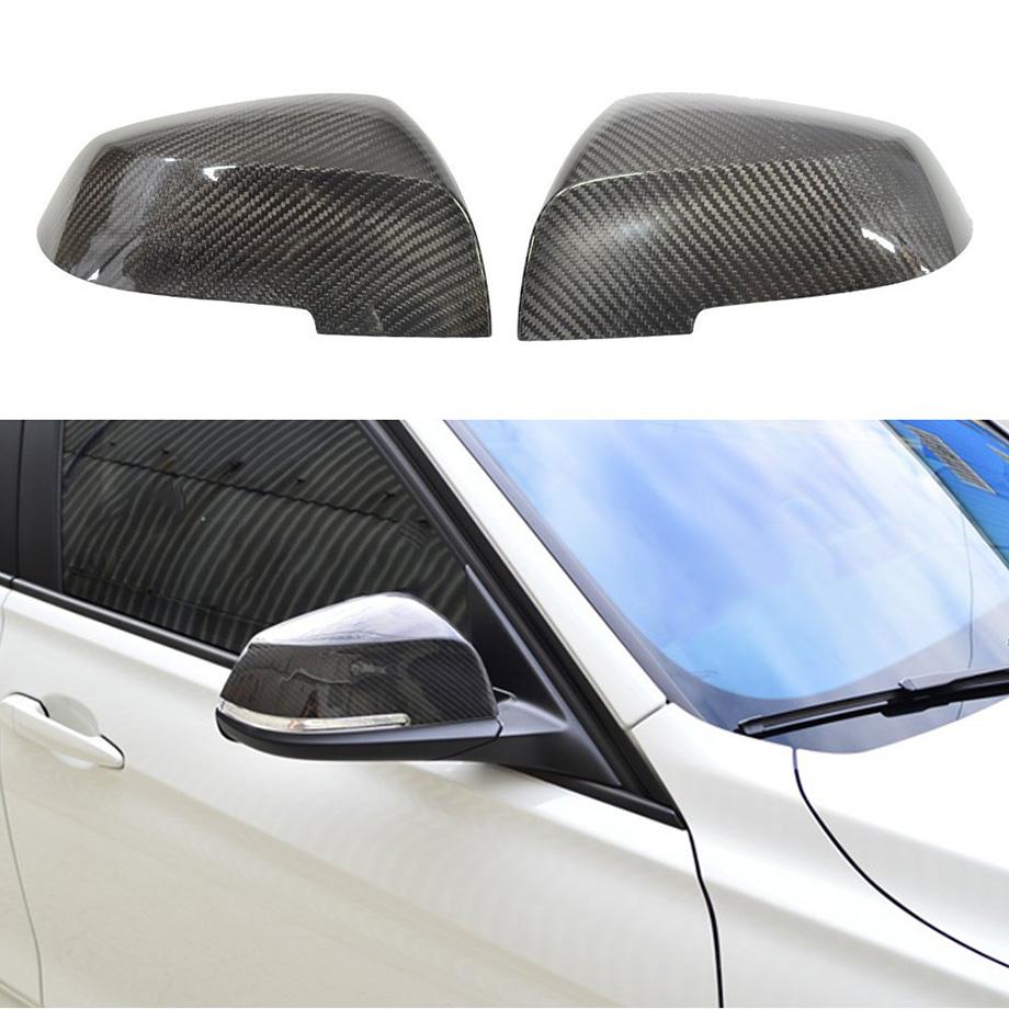 純正ミラーに被せるだけ!!! BMW 3シリーズ F30 ドアミラーカバーセット カーボンファイバーカバー '12y~'15y