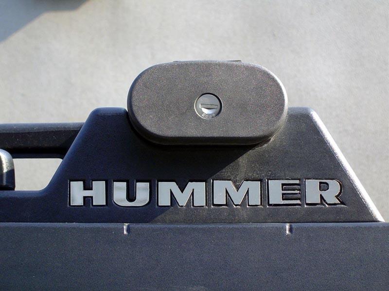 ハマーH2 リアルホイールズ ルーフラックロゴ HUMMER ポリッシュ '03y-【アメ車パーツ】