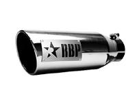 マフラーチップ 18インチ ドライバーサイド RBP クローム 汎用 ブラックロゴ 4