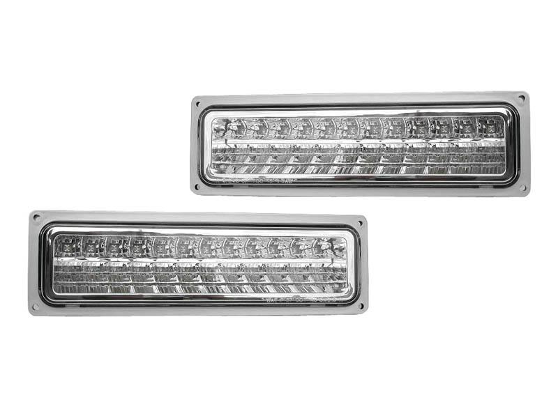 サバーバン ユーコン LEDパークシグナルランプ クローム '92y~'99y【アメ車パーツ】