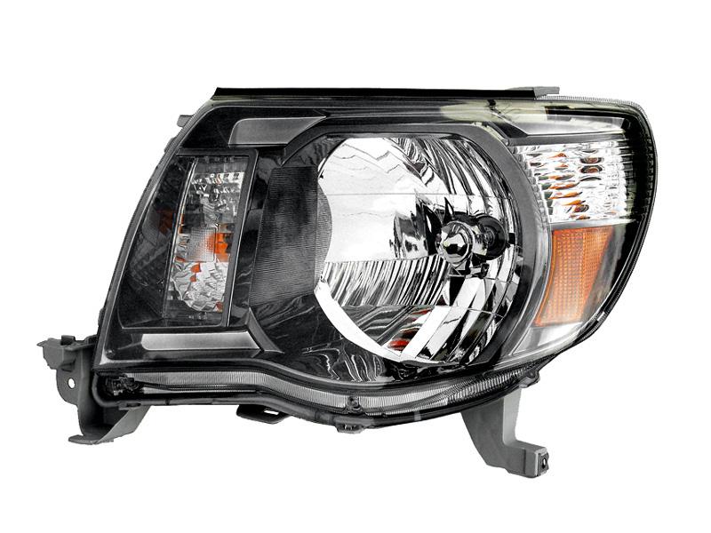 タコマ ヘッドライト 左 ブラック アフターマーケットパーツ ハロゲン車用 '05y~'11y