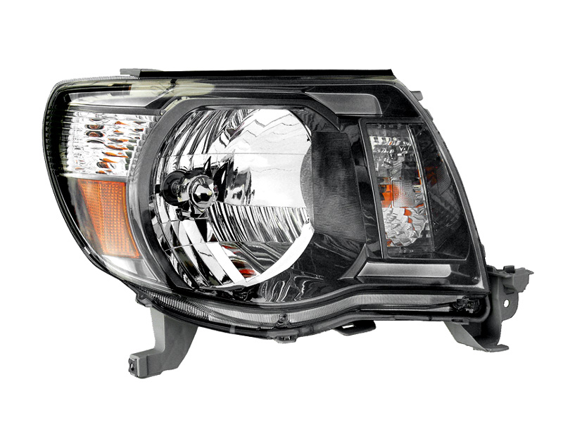 タコマ ヘッドライト 右 ブラック アフターマーケットパーツ ハロゲン車用 '05y~'11y