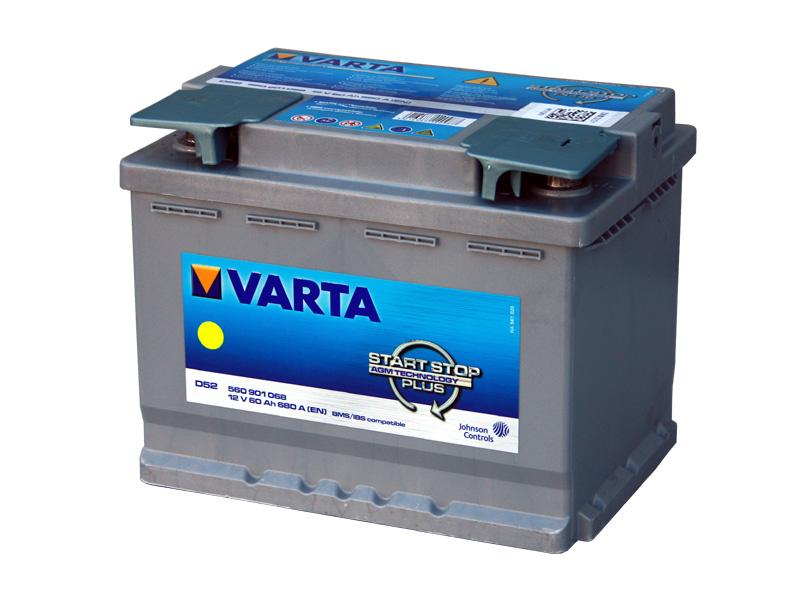 バッテリー バルタ/VARTA 560-901-068 (AGM60A) トップターミナル 欧州車用