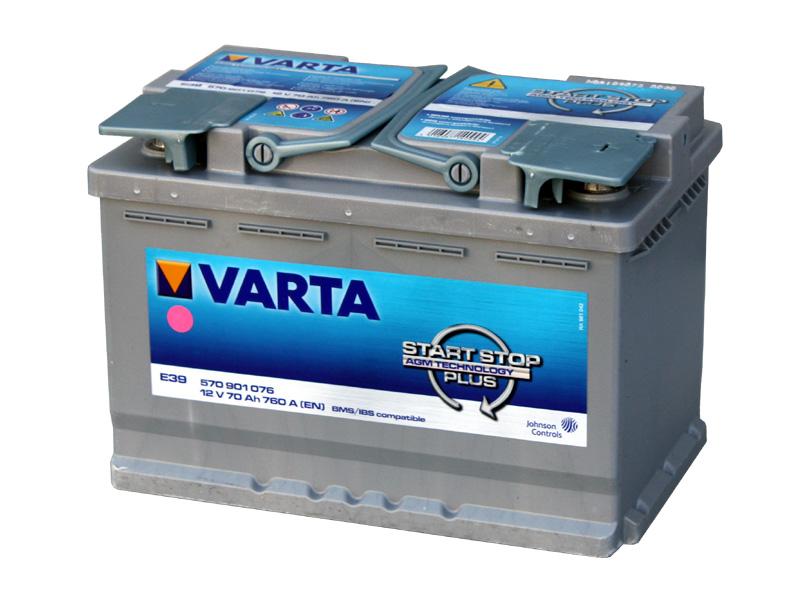 バッテリー バルタ/VARTA  570-901-076 (AGM70A) トップターミナル 欧州車用