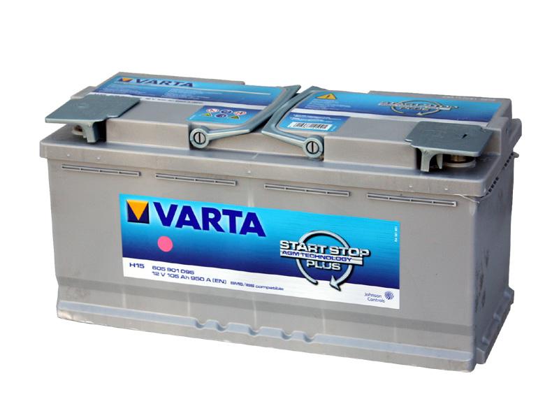 バッテリー バルタ/VARTA 605-901-095 (AGM105A) トップターミナル 欧州車用