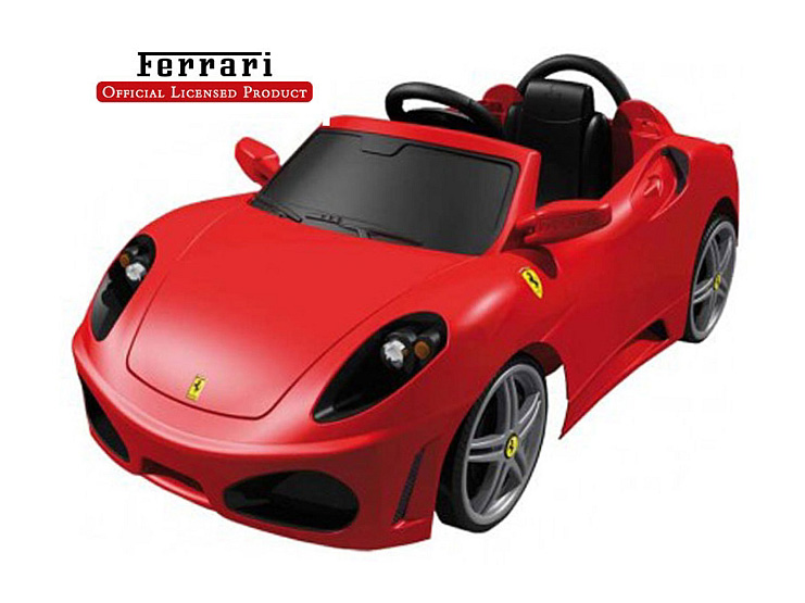 電動乗用 フェラーリ F430モデル レッド 6V