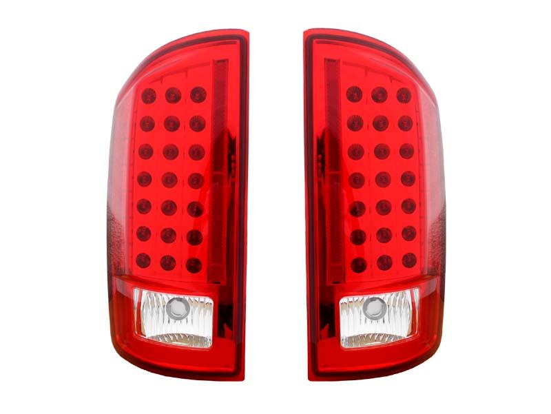 ダッジ ラムピックアップ ラムトラック LEDテールランプ レッド&クリア '07~'08y【アメ車パーツ】