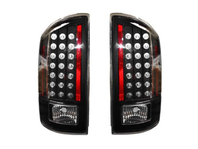 ダッジ ラムピックアップ ラムトラック LEDテールランプ クリア ブラックハウジング '07~'08y【アメ車パーツ】