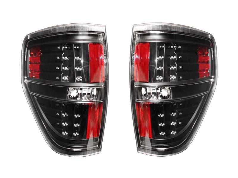 【売り切り特価!】F150 LEDテールランプ クリア ブラックハウジング '09y~'11y【アメ車パーツ】