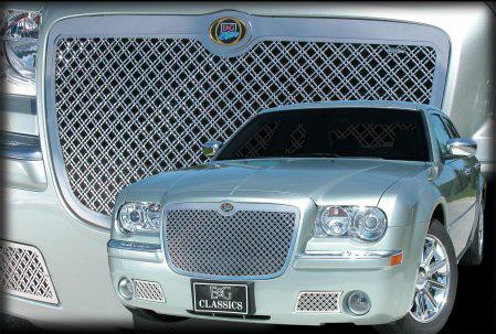 300 300C デュアルウェーブメッシュグリル アッパー クローム E&G '05y~'10y【アメ車パーツ】
