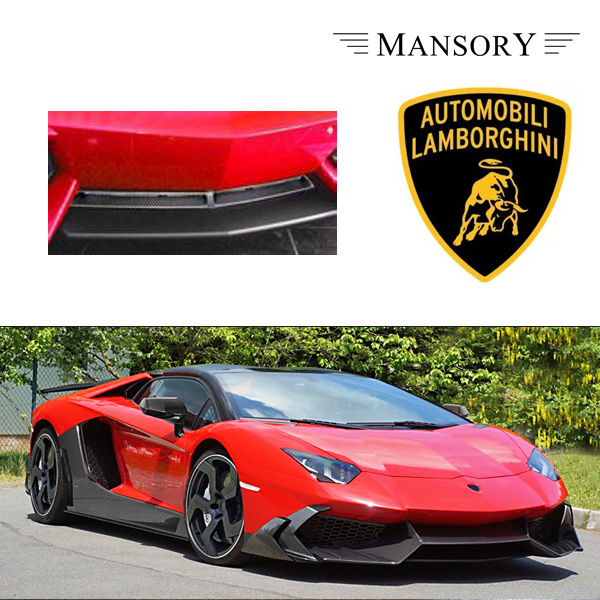 【MANSORY/マンソリー】Lamborghini/ランボルギーニ アヴェンタドール専用 MANSORY / マンソリー フロントバンパーグリル 1PC VisibleCarbon カーボン 純正バンパー対応